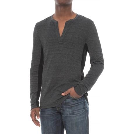 Michael Stars Open Henley Shirt - Cotton Blend, V-Neck, Long Sleeve (For Men)