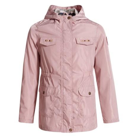 Pink Platinum Studded Anorak Jacket (For Big Girls)