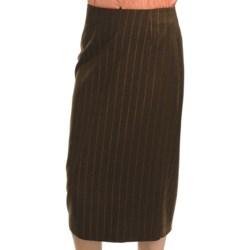 Audrey Talbott Broken-Stripe Pencil Skirt - Wool-Cashmere (For Women)
