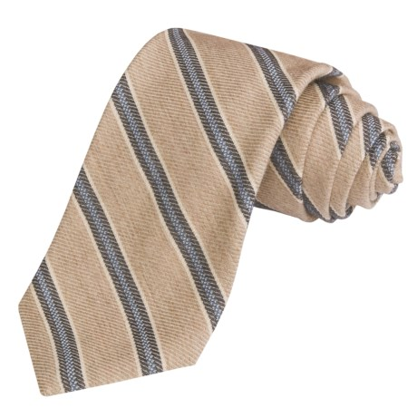 Altea Striped Tie - Wool-Cotton (For Men)