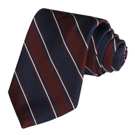 Altea Silk-Cotton Tie - Wide Stripe (For Men)