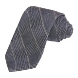 Altea Subtle Plaid Tie - Wool-Silk (For Men)
