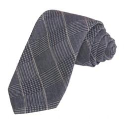 Altea Subtle Plaid Tie - Wool-Silk (For Men)