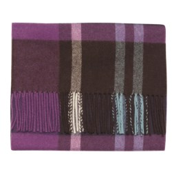 Johnstons of Elgin Bright Buffalo Check Scarf - Woven Lambswool