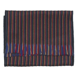 Johnstons of Elgin College Striped Scarf - Woven Merino Wool