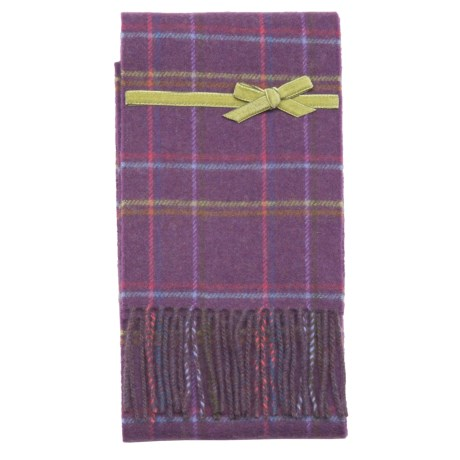 Johnstons of Elgin Skinny Lambswool Scarf - Ribbon (For Men and Women)