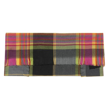 Johnstons of Elgin Merino Wool Scarf - Square (For Women)