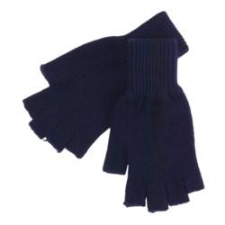 Johnstons of Elgin Fingerless Gloves - Cashmere (For Men and Women)