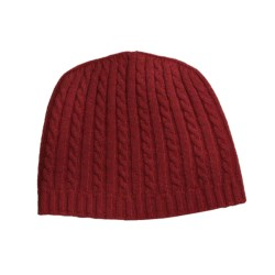Johnstons of Elgin Cable-Knit Cashmere Cap (For Women)