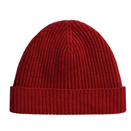 Johnstons of Elgin Cardigan Stitch Hat - Cashmere (For Men and Women)
