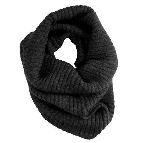 Johnstons of Elgin Merino-Angora Snood - Rib Knit (For Men and Women)