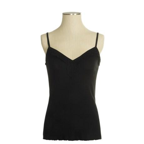 Donna Nicole Crochet Neckline Tank Top - Cotton (For Women)