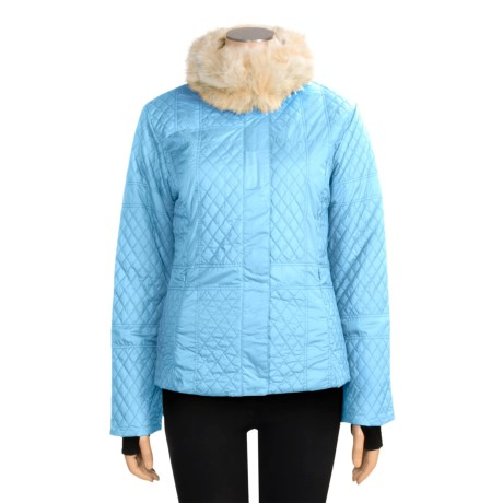 Sunice Julia Quilted Jacket - Faux-Fur Trim (For Women)