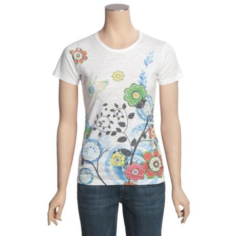 Ojai Burnout T-Shirt - Short Sleeve (For Women)
