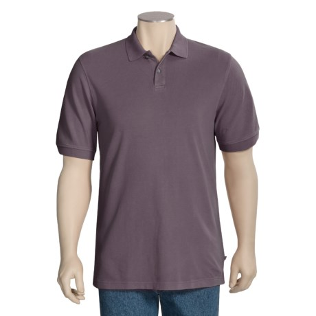 True Grit Jersey Pique Polo Shirt - Two Button, Short Sleeve (For Men)