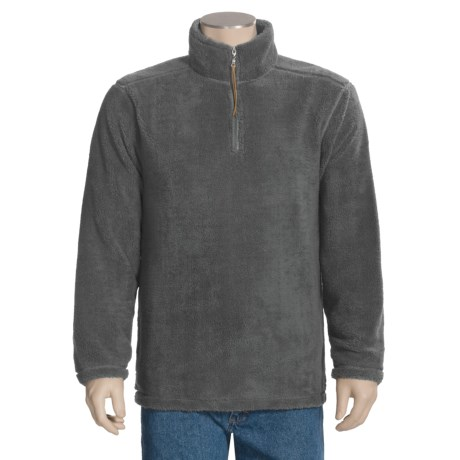True Grit Sueded Soft Sherpa Pullover Shirt - Zip Neck (For Men)