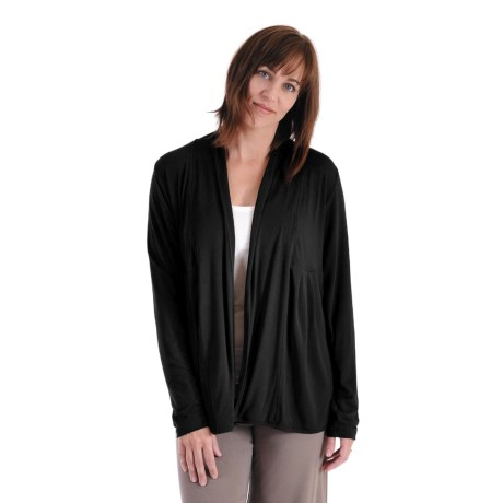 Dreamsacks Bella Gathered Wrap Cardigan Sweater (For Women)