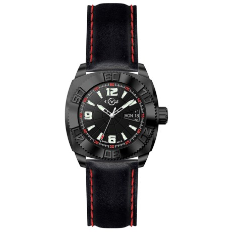 GV2 by Gevril Mecha Line 8704 Watch - Leather Strap