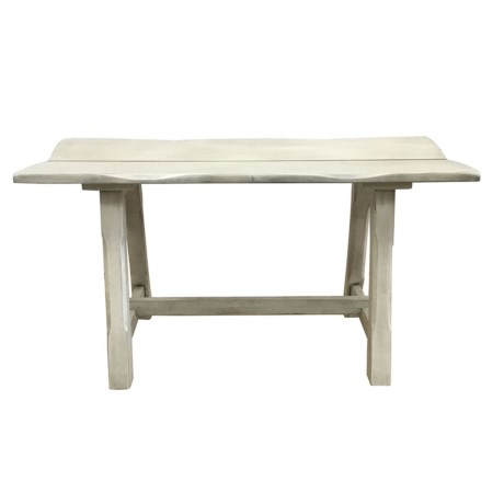 J Hunt Grey-Washed Acacia Live Edge Bench - 32x14x17""