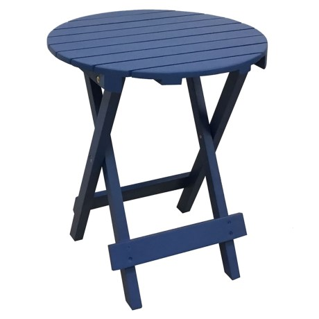 "J Hunt Round Faux-Teak Side Table - 16x16x20"""
