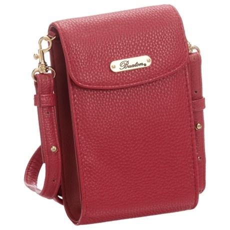 Buxton Pebble RFID Crossbody Wallet - Vegan Leather (For Women)