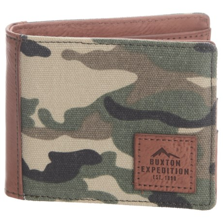 Buxton Expedition RFID Slimfold Wallet (For Men)