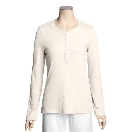 True Grit Double-Knit Henley Shirt - Long Sleeve (For Women)