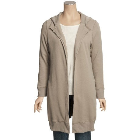 True Grit Long Cardigan Sweater - Open Front, Thermal Lining (For Women)