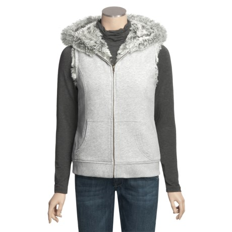 True Grit Snowcapped Hooded Vest - Faux-Fur Lining (For Women)