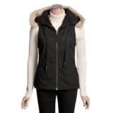 True Grit Zip Vest - Faux-Fur Hood Trim (For Women)