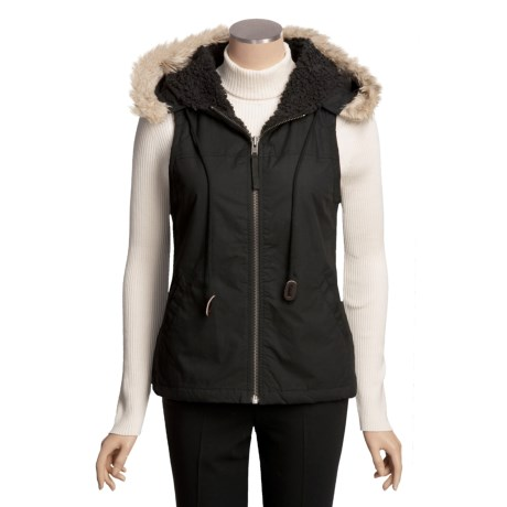 True Grit Zip Vest - Faux-Fur Hood Trim (For Women)