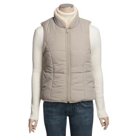 True Grit Sherpa Vest - Reversible (For Women)