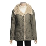 True Grit Vintage Cargo Coat - Faux-Fur Trim (For Women)
