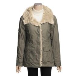 True Grit Vintage Cargo Coat - Faux-Fur Trim (For Women)