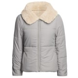 True Grit Shawl Collar Jacket - Sherpa Lining (For Women)