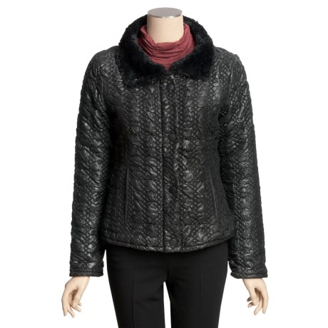 True Grit Bonded Quilted Short Jacket - Faux-Fur Collar (For Women)