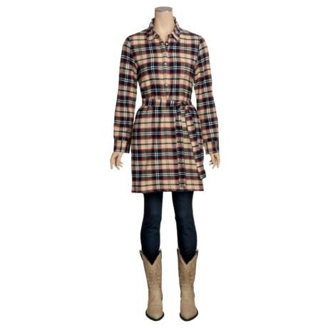 True Grit Vintage Flannel Shirt Dress - Long Sleeve (For Women)