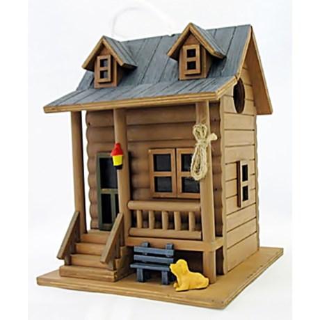 Home Bazaar Log Cabin Birdhouse