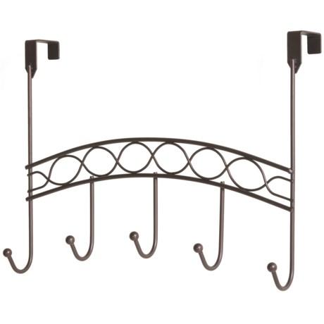 Vanderbilt Home Curved Over-the-Door Rack - 5 Hooks