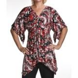 Two Star Dog Carol Trapeze Tunic Shirt - Travel Knit, Short Sleeve (For Women)