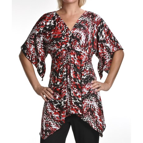 Two Star Dog Carol Trapeze Tunic Shirt - Travel Knit, Short Sleeve (For Women)