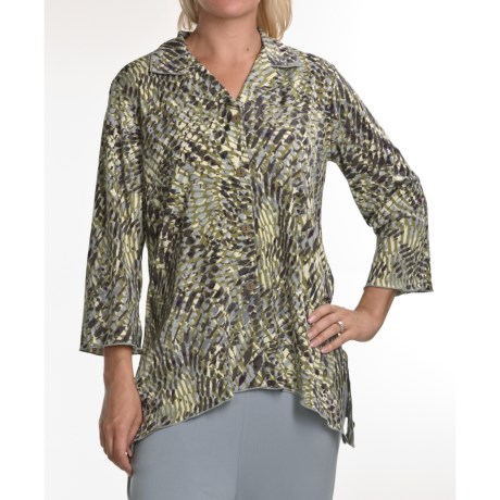 Two Star Dog Natalie Trapeze Tunic Shirt - Travel Knit, 3/4 Sleeve (For Women)