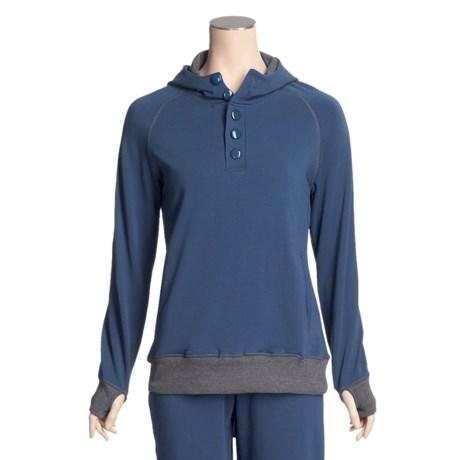 Pulp Button Hoodie Sweatshirt - Stretch, Long Sleeve (For Women)