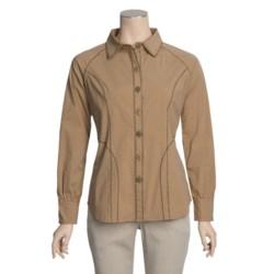 Pulp Poplin Shirt - Stretch Cotton, Long Sleeve (For Women)