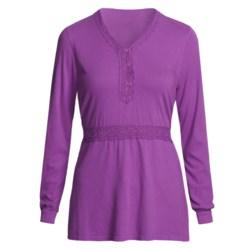 Pulp Crochet-Trim Shirt - Tie Back, Long Sleeve (For Women)