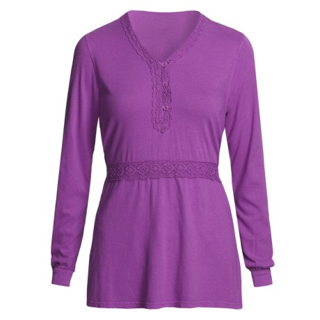 Pulp Crochet-Trim Shirt - Tie Back, Long Sleeve (For Women)
