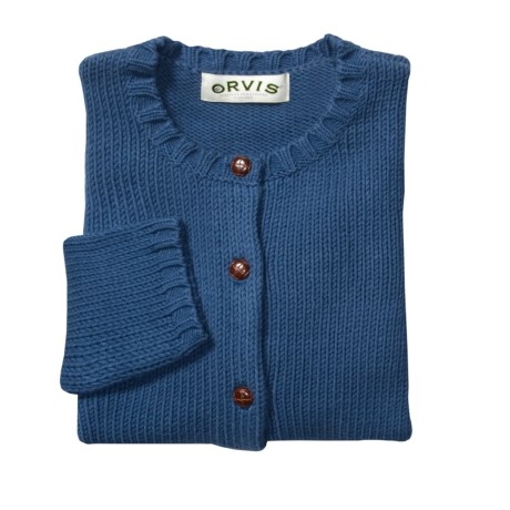 Orvis Leather Elbow Patch Cardigan Sweater (For Women)