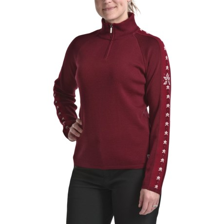 Dale of Norway Rivtind Zip Mock Sweater - New Merino Wool (For Women)