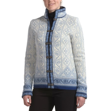 Dale of Norway Voss Embroidered Cardigan Sweater - New Merino Wool (For Women)