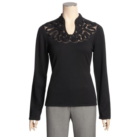 Avalin Rope-Yoke Sweater - Long Sleeve (For Women)